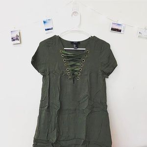 Forever 21 Lace-up T-shirt Dress
